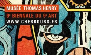 L'affiche de l'exposition Jack Kirby (1917-1994) et la galaxie des super héros à Cherbourg.