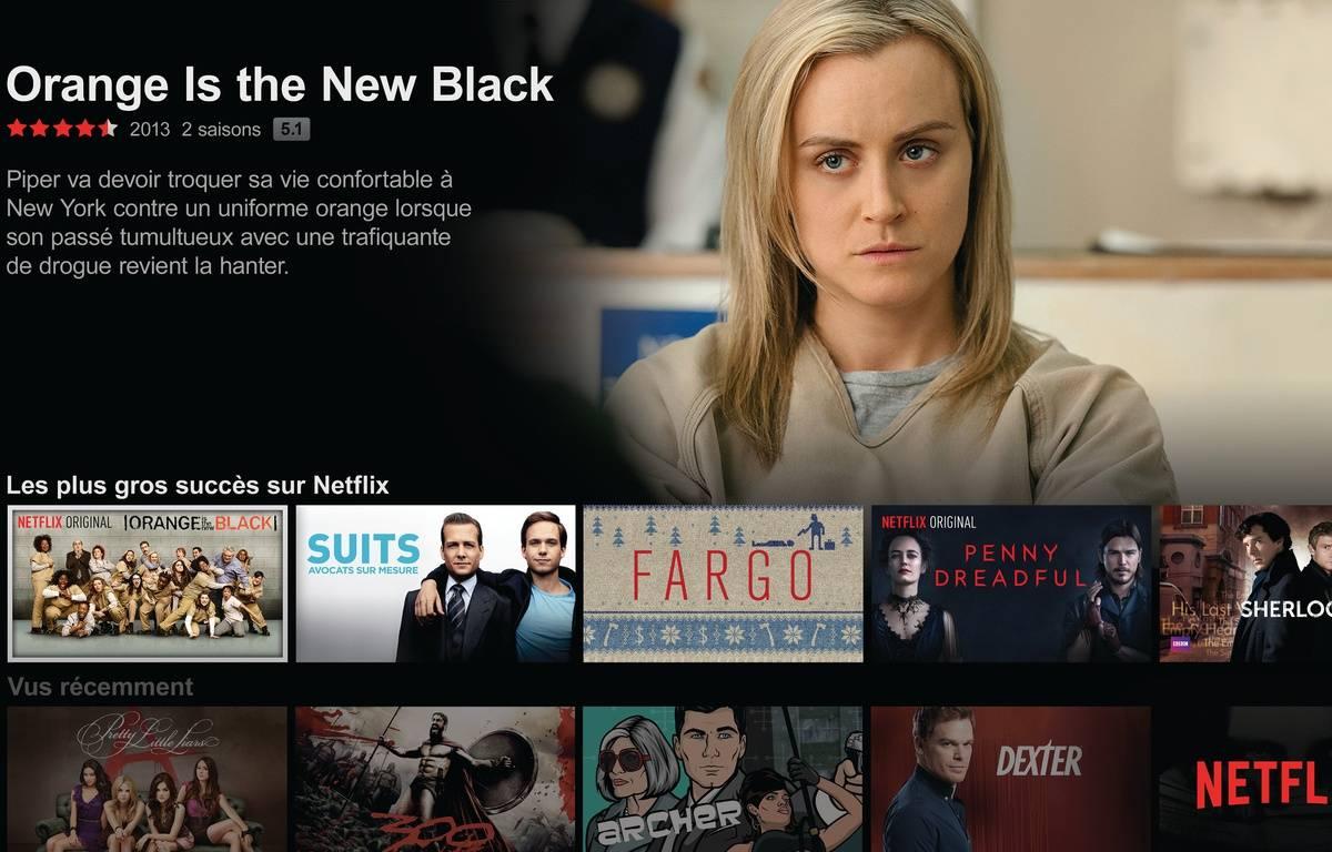 L'écran d'accueil de Netflix. – NETFLIX
