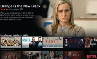 L'écran d'accueil de Netflix.