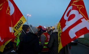 Manifestation devant l'usine de Blanquefort le 23 janvier 2017