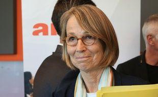 La ministre de la culture Françoise Nyssen à Strasbourg, le 18 mai 2018.