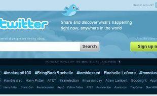 La nouvelle page d'accueil de Twitter, lancée le 29 juillet 2009