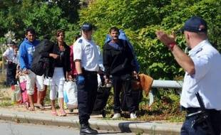 Illustration d'une évacuation de squat, près de Lyon.