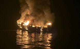 L'incendie à bord d'un bateau de plongée s'est déclaré dans la nuit du 1er au 2 septembre 2019, au large de Santa Barbara.