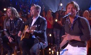 Les frères Hanson dans une émission diffusée sur NBC, en juillet 2016.