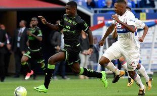 Un duel lors de Lyon-Guingamp