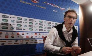 Laurent Blanc, le sélectionneur nationl, le 26 mai 2011, au si-ge de la FFF, à Paris.
