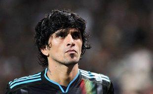 Le joueur de l'OM, Lucho Gonzalez, lors de la défaite de Marseille en Ligue des champions face au Spartak Moscou, le 15 septembre 2009 au stade Vélodrome.