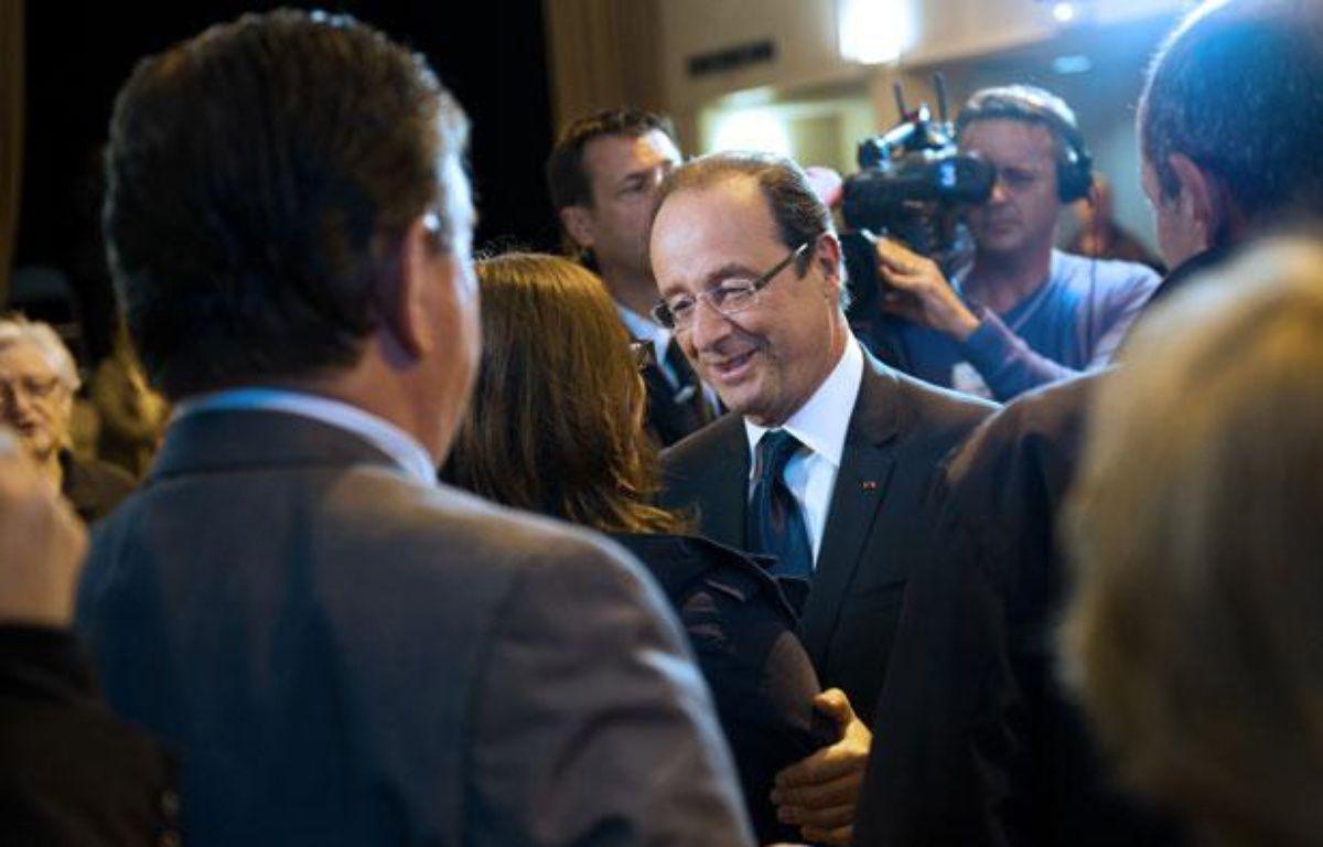 François Hollande à Tulle, le 10 juin 2012. – BERTRAND LANGLOIS / AFP
