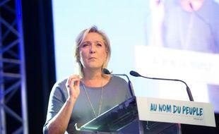 Marine Le Pen, présidente du Front national, le 18 septembre 2016 à Fréjus (Var).