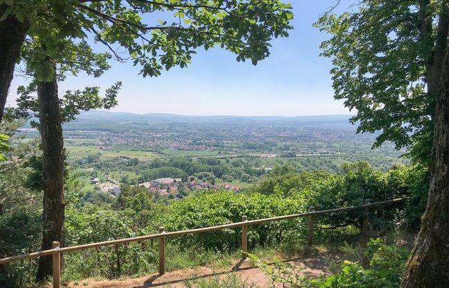 La vue depuis le Mont-Saint-Michel de... Saint-Jean-de-Saverne.