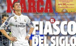 La Une du quotidien sportif madrilène Marca, le 14 mai 2015.