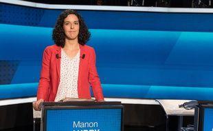 Manon Aubry le 22 mai 2019 lors d'un débat organisé par France 2 et France Inter.
