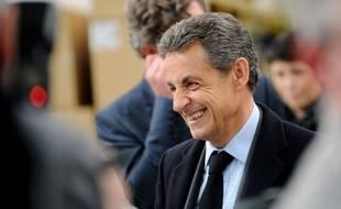 Nicolas Sarkozy (LR) chez Roger-Pradier le 24 mars 2016.