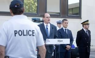 Le Premier ministre Jean Castex lors d'un discours devant des policiers à Dijon le 10 juillet 2020.