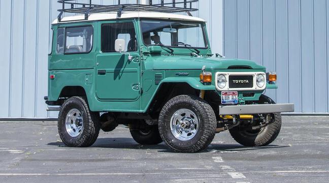 Aux enchères : Le Toyota Land Cruiser d'un des plus grands acteurs du monde