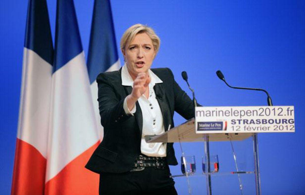 Meeting de Marine Lepen, candidate à la présidentielle 2012. AStrasbourg, le 12 février. – GILLES VARELA/20 MINUTES