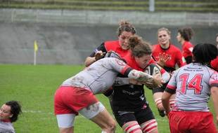 Les filles du Stade Rennais Rugby évoluent dans le Top 8 féminin, ici en 2011.