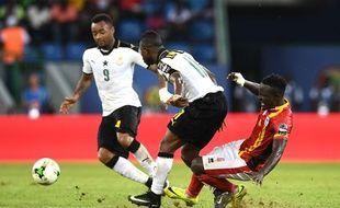 Le match entre l'Ouganda et le Ghana, lors de la Coupe d'Afrique des Nations, le 17 janvier 2017.