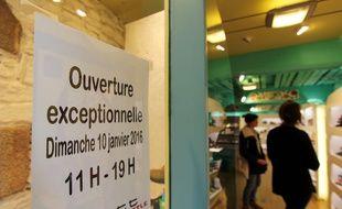 Illustration d'un commerce ouvert le dimanche, ici le 10 janvier à Rennes.