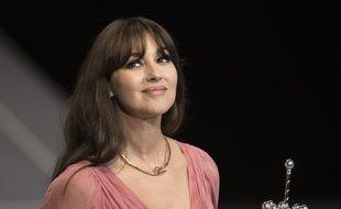 L'actrice Monica Bellucci ici lors d'une remis de prix au festival du film de San Sebastian, en 2017.