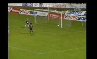 Match Maribor-Lyon, Capture d'écran.