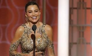 L'actrice Sofia Vergara aux Golden Globes, le 8 janvier 2017.