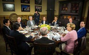 Les dirigeants du G8 et de l'Union européenne à Camp David (USA), le 18 mai 2012.