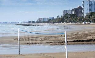 Une plage de Benicassim, en Espagne, le 9 avril 2020. (Illustration)