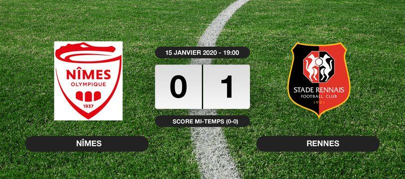 Nîmes - Stade Rennais: Le Stade Rennais vainqueur de Nîmes 1 à 0 au stade des Costières
