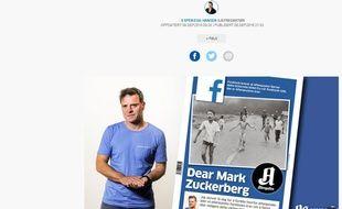 Capture d'écran du site http://www.aftenposten.no/