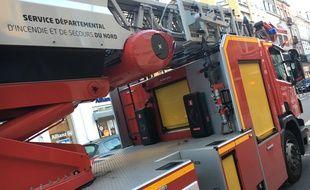 Camion de pompiers à Lille en novembre 2016