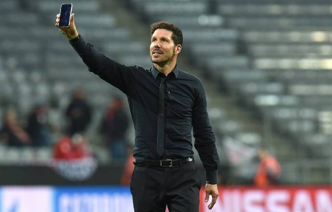 Diego Simeone, l'entraîneur de l'Atletico Madrid, le 3 mai 2016, à Munich.