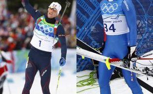 Vincent Jay (à gauche), symbole de l'insolente réussite française en biathlon. A droite, Julien Lizeroux, symbole de la faillite française en ski alpin.