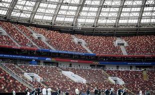 L'équipe de France à l'entraînement au stade Luzhniki de Moscou, le 25 juin 2018.