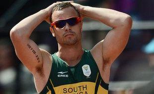 Oscar Pistorius, le 9 août 2012, lors des Jeux paralympiques de Londres.