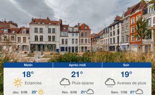 Météo Lille: Prévisions du mercredi 4 août 2021