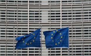 Devant la Commission européenne, à Bruxelles. (illustration)