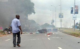 Des affrontements ont éclaté à Libreville, au Gabon, après l'annonce de la victoire d'Ali Bongo à l'élection présidentielle le 3 septembre 2009.