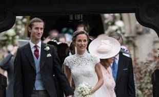James Matthews et Pippa Middleton le jour de leur mariage