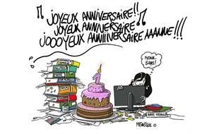 Pour le premier anniversaire d'Anne Hidalgo à la mairie de Paris, sa principale rivale, Nathalie Koscuisko-Morizet (UMP) a décidé de la tourner en dérision à travers cinq caricatures...