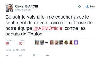 Le tweet d'Olivier Bianchi, maire de Clermont-Ferrand
