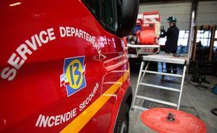 Marseille le 24 janvier 2011 - Le Service Départemental d'Incendie et de Secours ( SDIS ) du département.