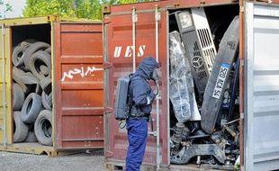 Une opération menée par la douane et la gendarmerie contre l'exportation illégale de déchets a eu lieu jeudi 14 avril à Strasbourg