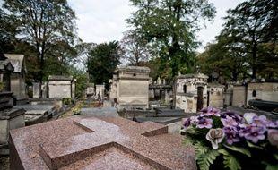 Le cimetière de Montmartre à Paris en octobre 2014