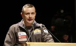 Le directeur de course du Dakar, Etienne Lavigne, lors d'une conférence de presse à Lisbonne le 4 janvier 2008.