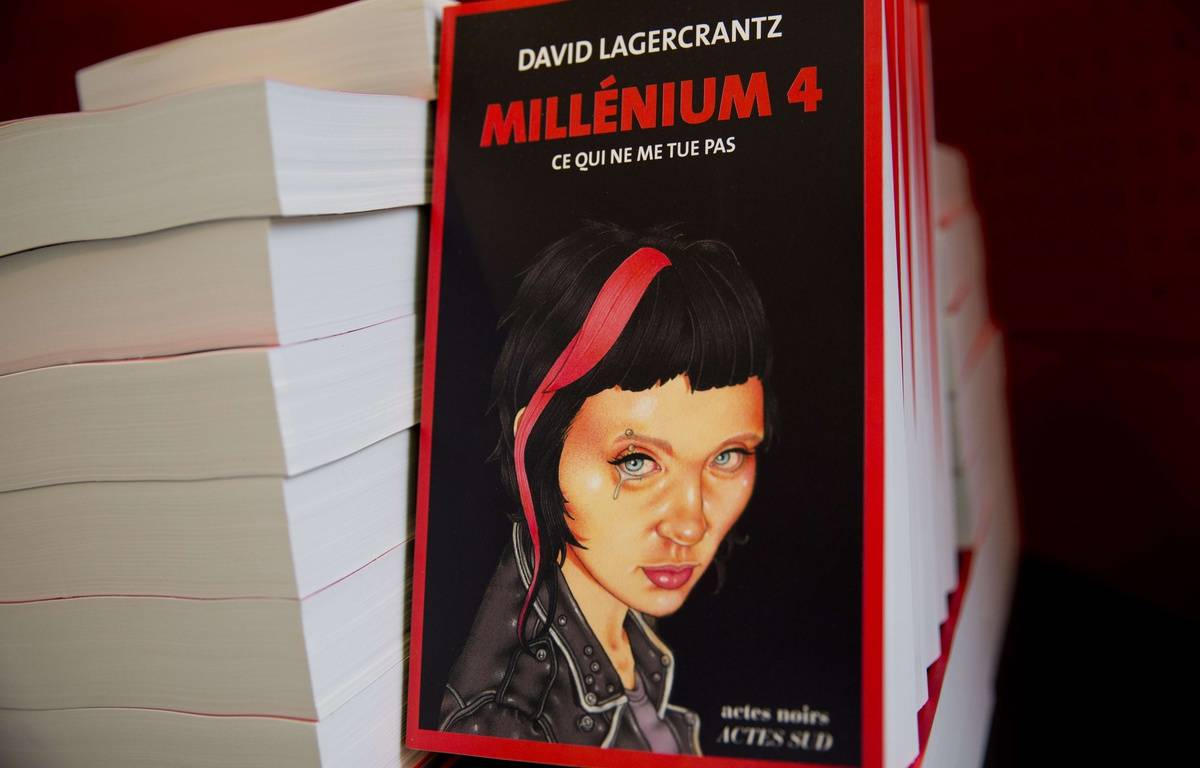 La couverture du tome 4 de «Millenium» écrit par l'auteur suédois David Lagercrantz. – AFP