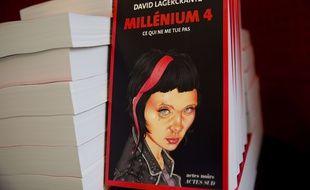 La couverture du tome 4 de «Millenium» écrit par l'auteur suédois David Lagercrantz.