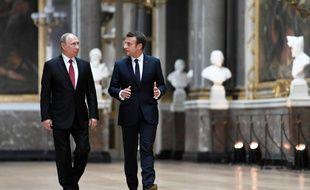 Emmanuel Macron avait  reçu Vladimir Poutine en 2017, à Versailles.