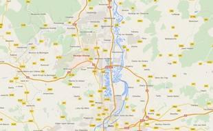Une mystérieuse pluie bleue s'abat sur plusieurs quartiers de  Marange-Silvange en Lorraine.
